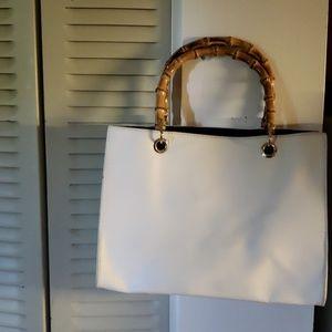 Handbags - Wooden handle purse